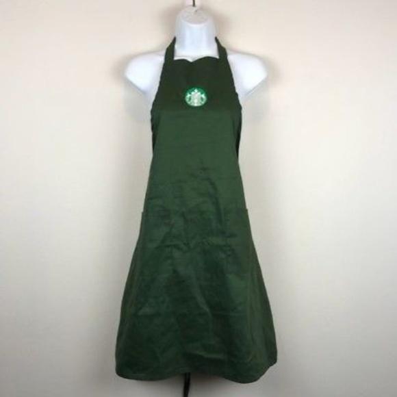 unisex starbucks barista halloween costume apron